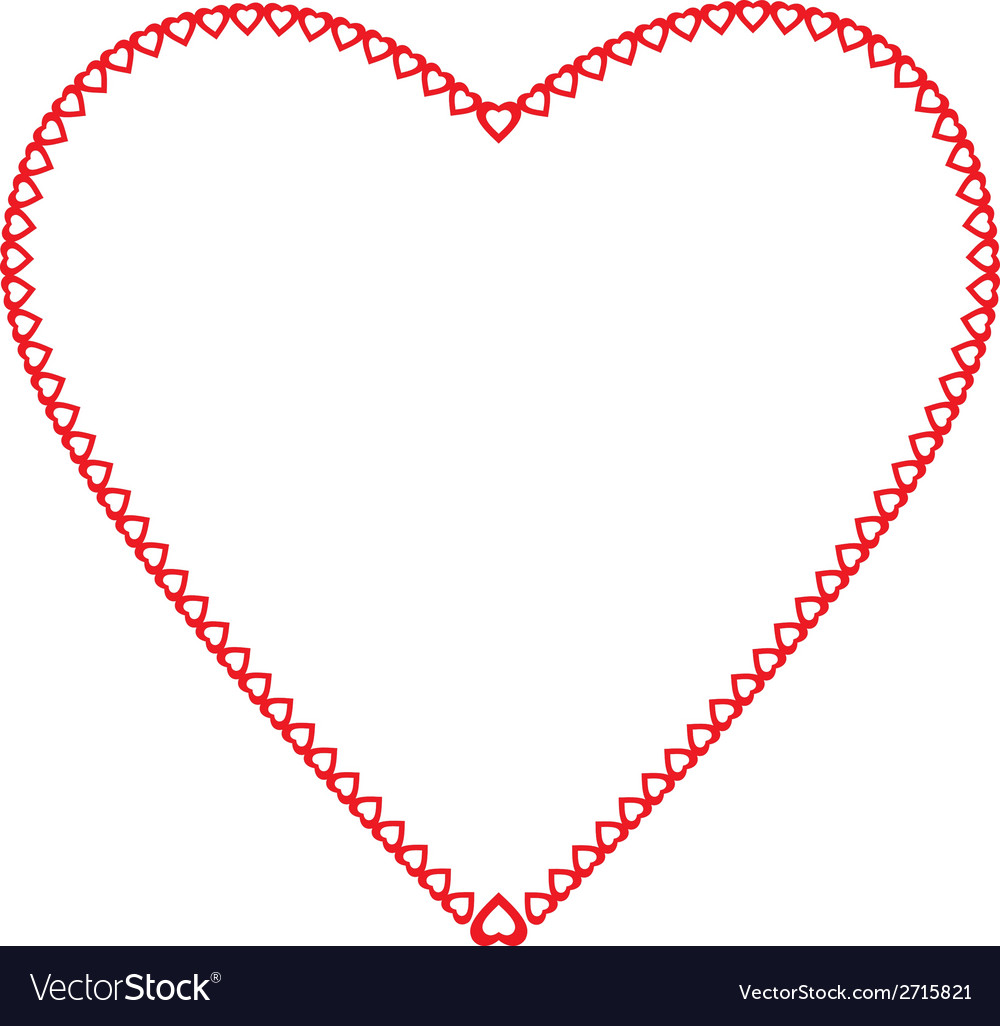Frame heart the little hearts of red color on a vector | Price: 1 Credit (USD $1)