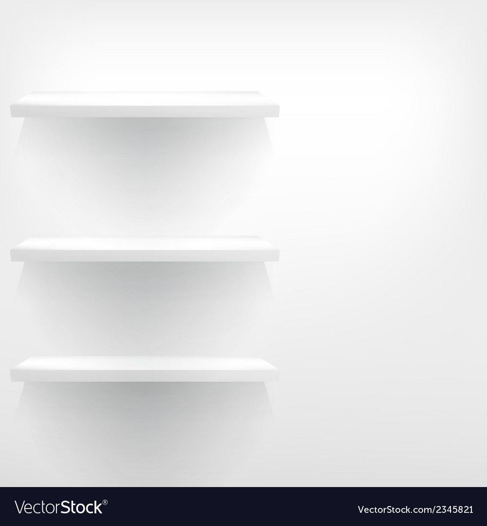 Isolated empty shelf for exhibit vector | Price: 1 Credit (USD $1)