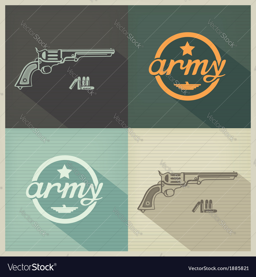 Military flat design sign vector | Price: 1 Credit (USD $1)