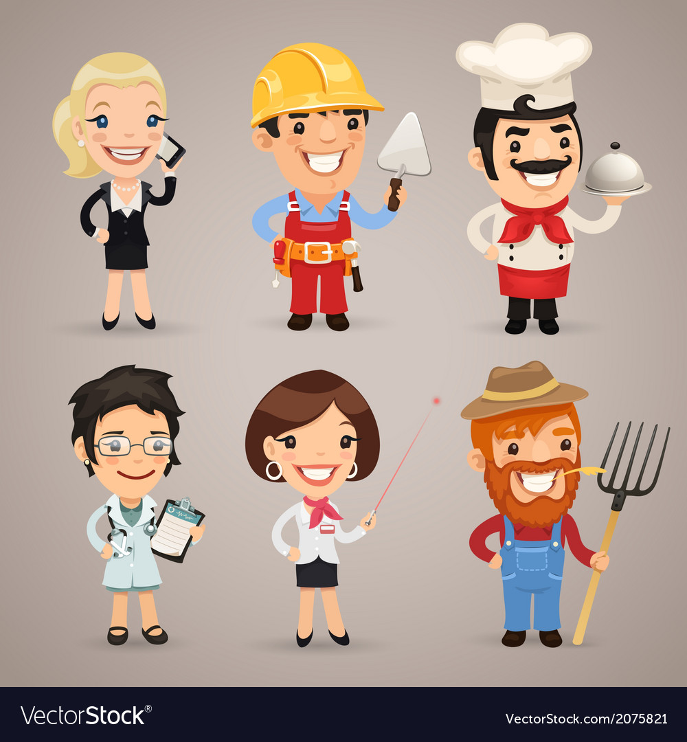 Professions set1 2 vector | Price: 1 Credit (USD $1)