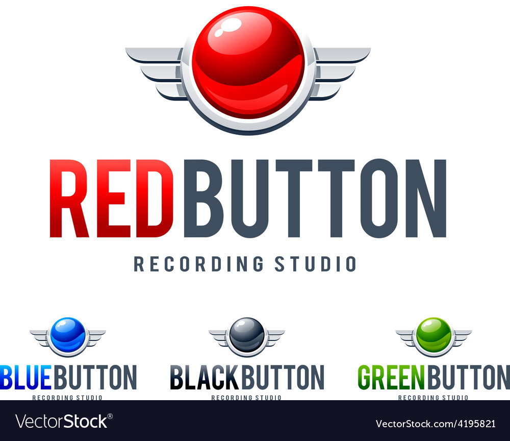 Red button logo vector | Price: 1 Credit (USD $1)