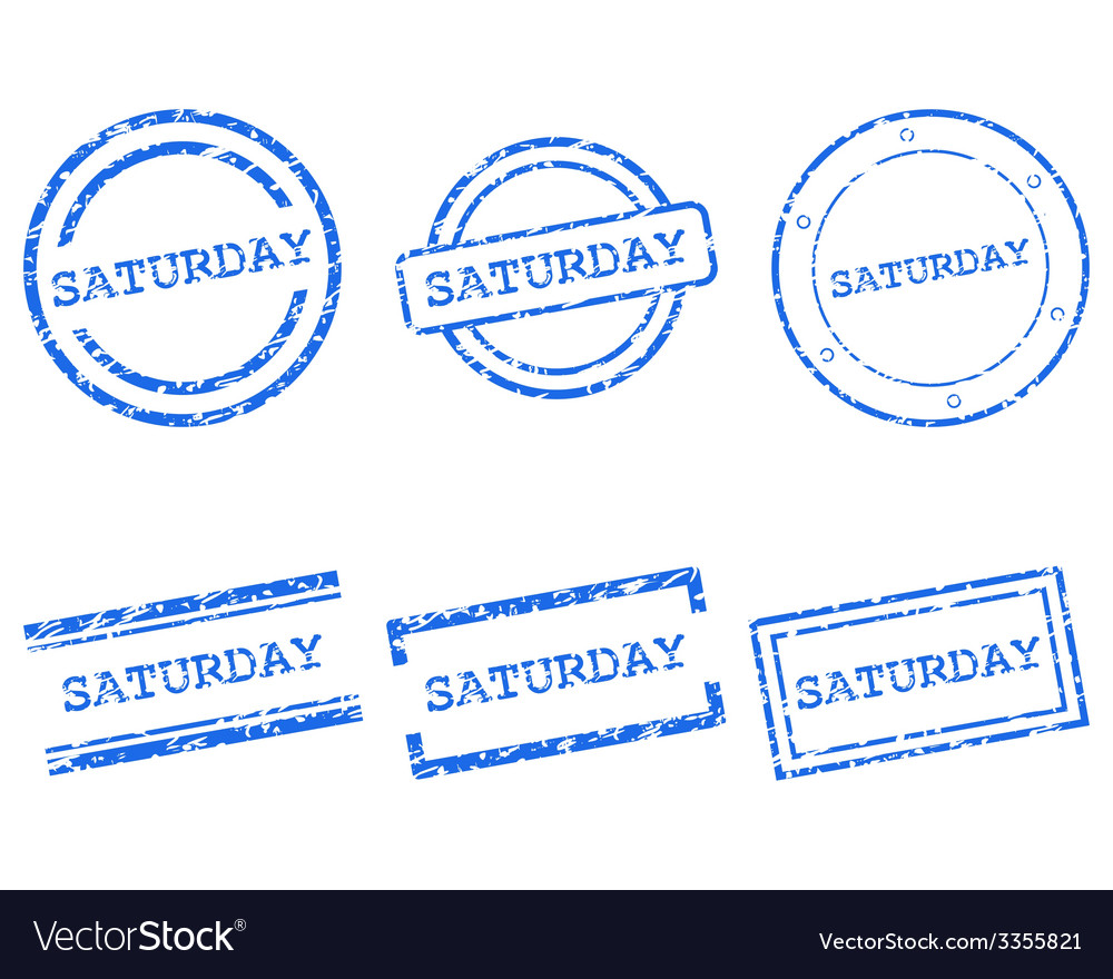 Saturday stamps vector | Price: 1 Credit (USD $1)