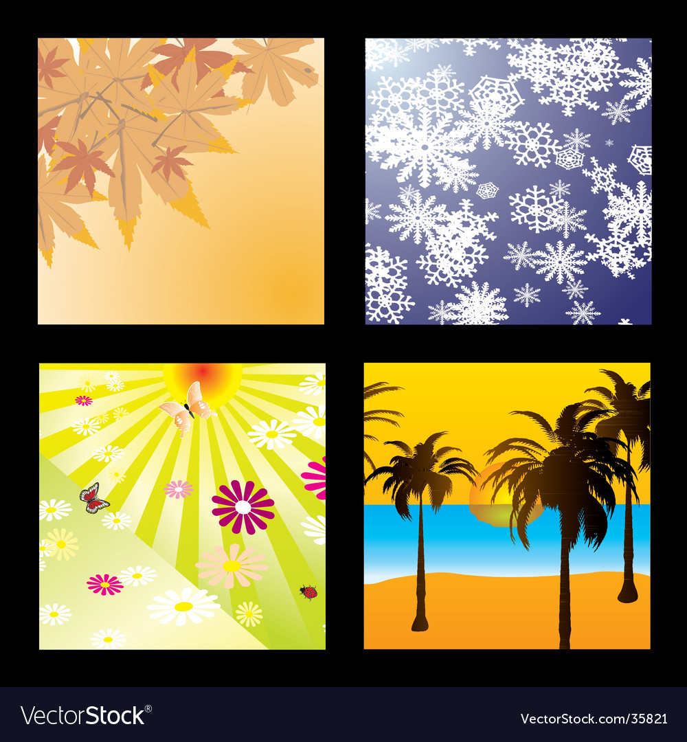 Season squares vector | Price: 1 Credit (USD $1)