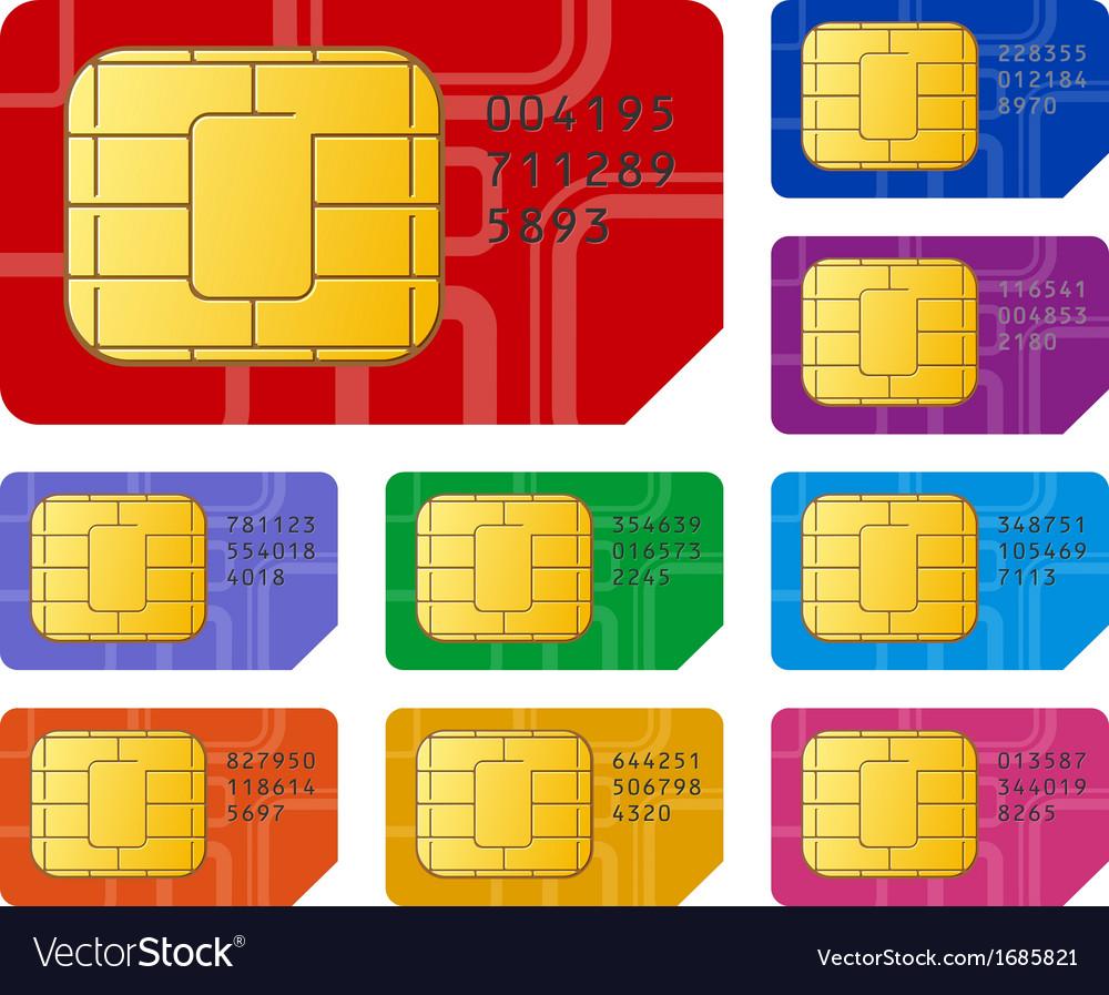 Sim cards vector | Price: 1 Credit (USD $1)