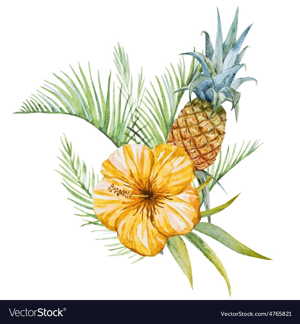 Watercolor flowers vector   Price: 1 Credit (USD $1)