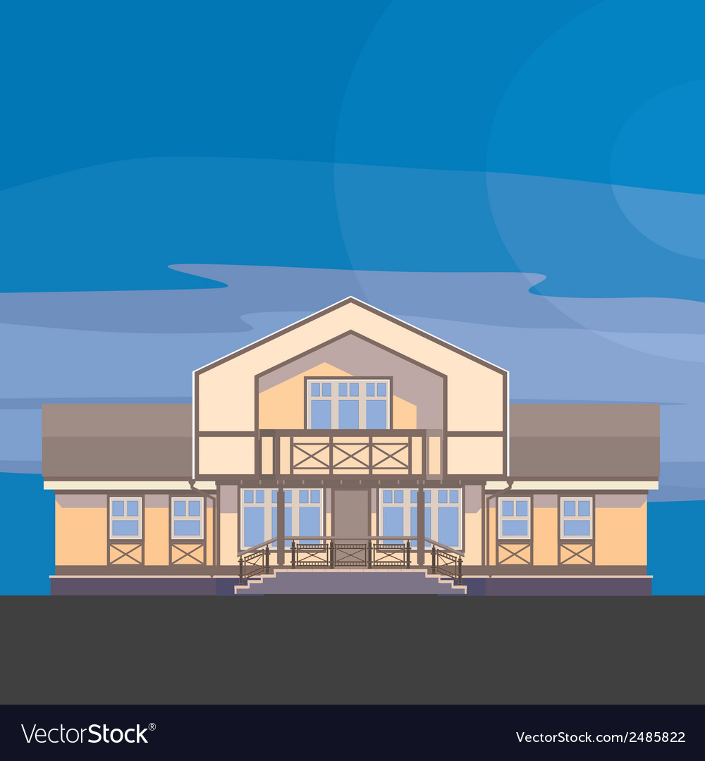 03 classical mansion v vector | Price: 1 Credit (USD $1)
