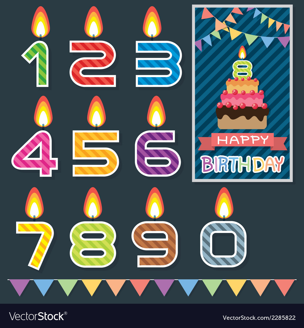 Birthday candle design vector | Price: 1 Credit (USD $1)