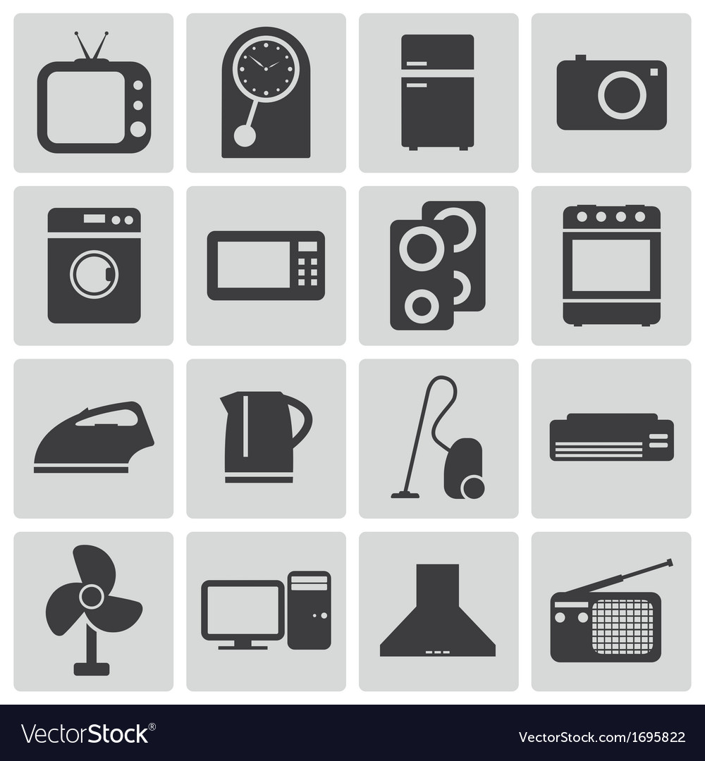 Black home icons set vector | Price: 1 Credit (USD $1)