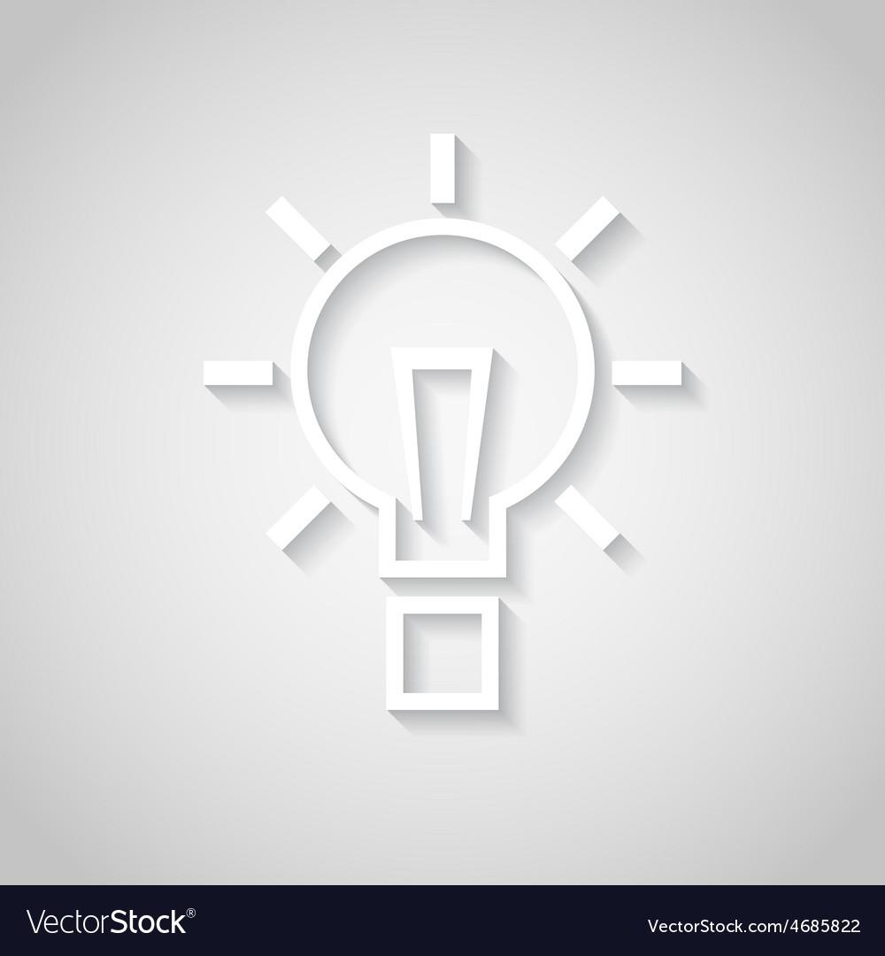 Bulb - paper cut design vector | Price: 1 Credit (USD $1)