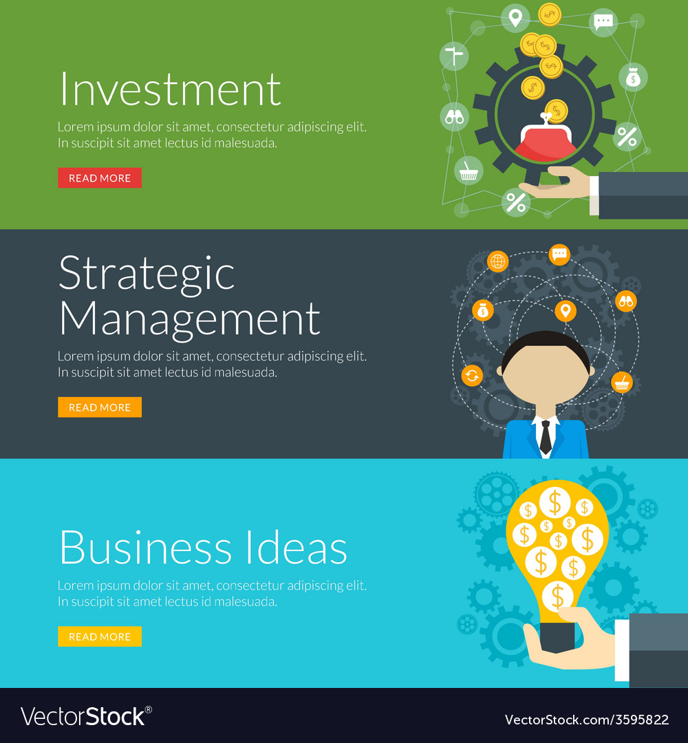 Flat design concept for investment strategic vector | Price: 1 Credit (USD $1)