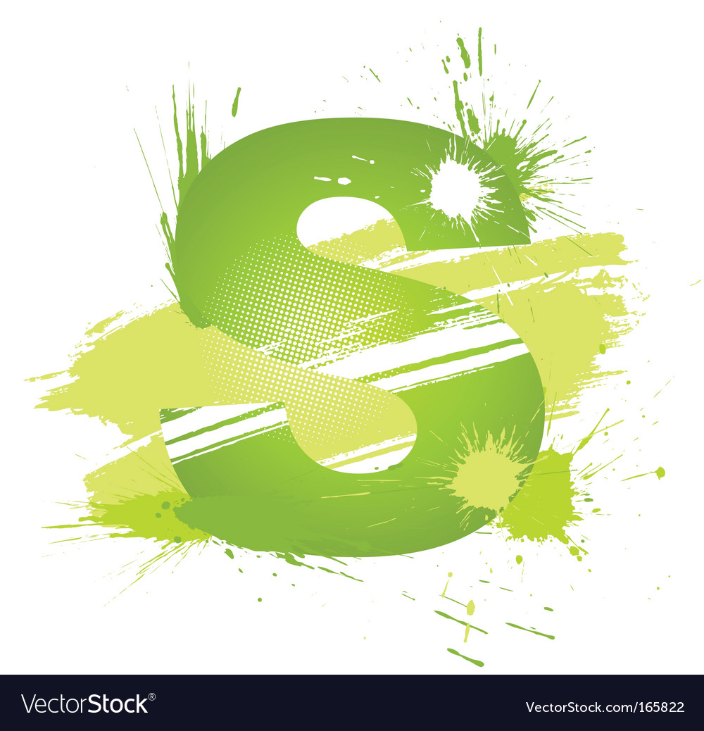 Letter s background vector