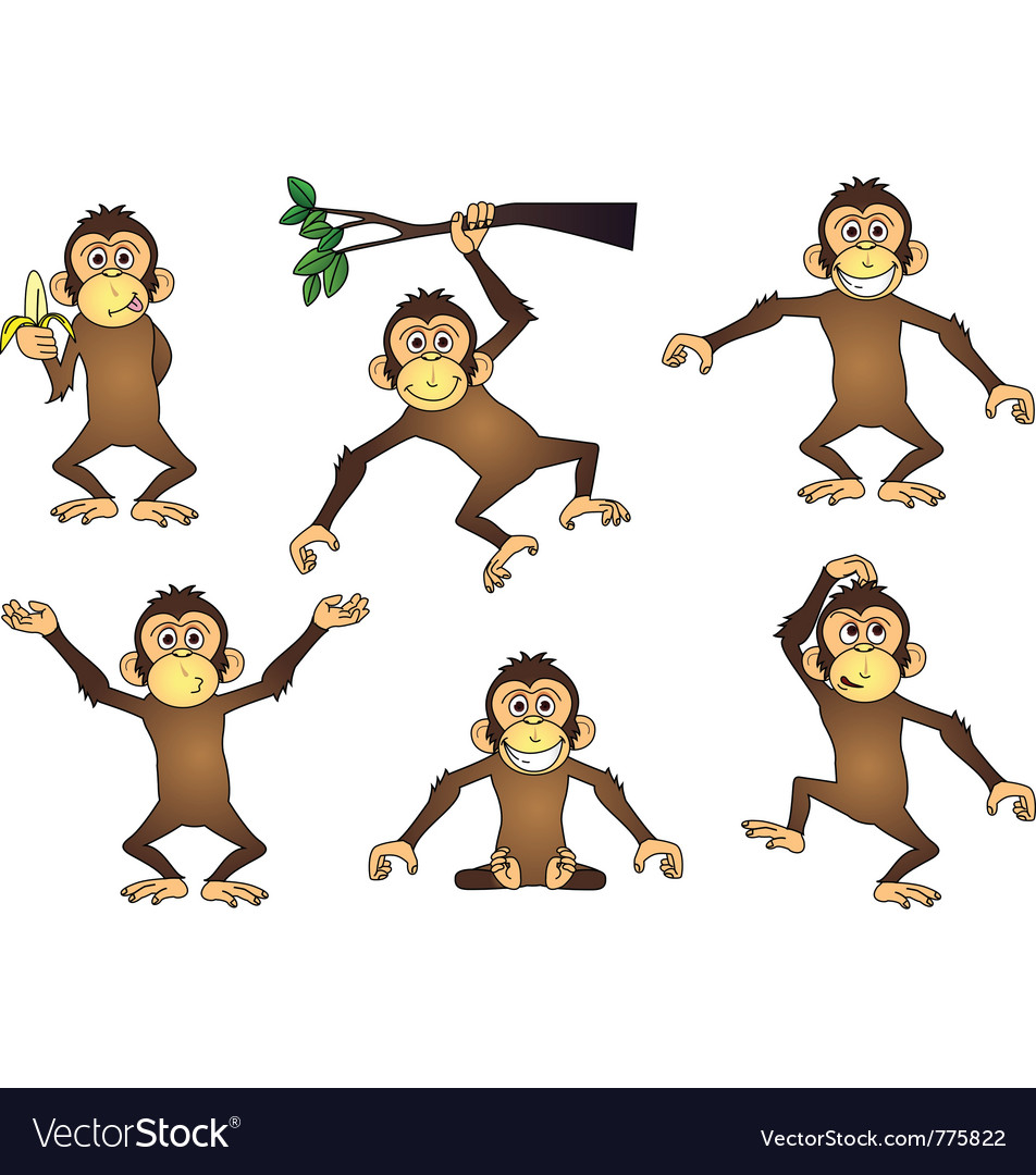 Monkey cartoon vector | Price: 3 Credit (USD $3)