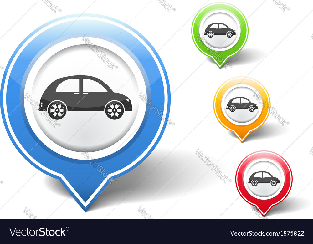 Retro car icon vector | Price: 1 Credit (USD $1)