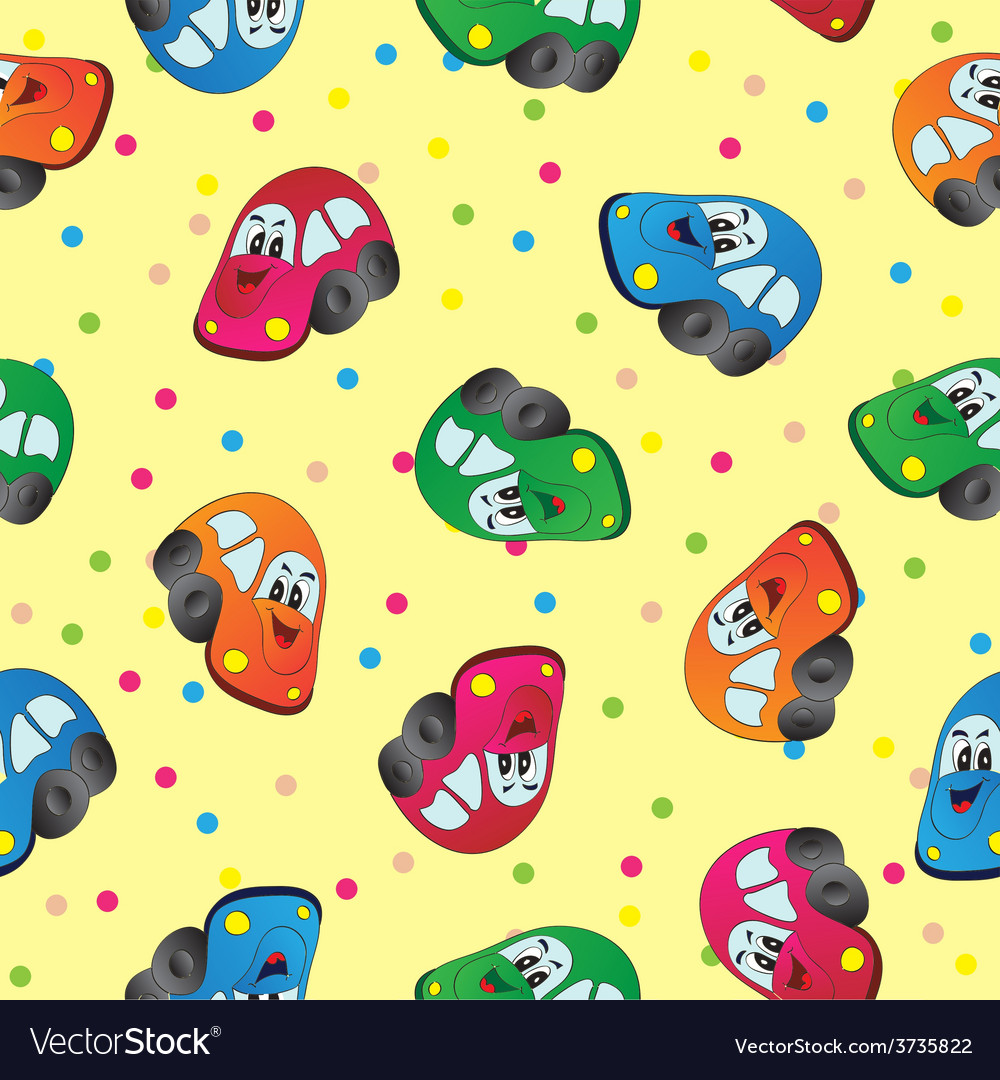 Seamless toy car background for baby boy vector | Price: 1 Credit (USD $1)