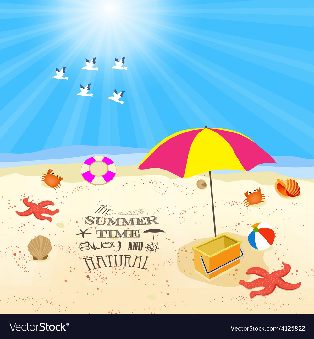Summer time enjoy and natural vector | Price: 1 Credit (USD $1)