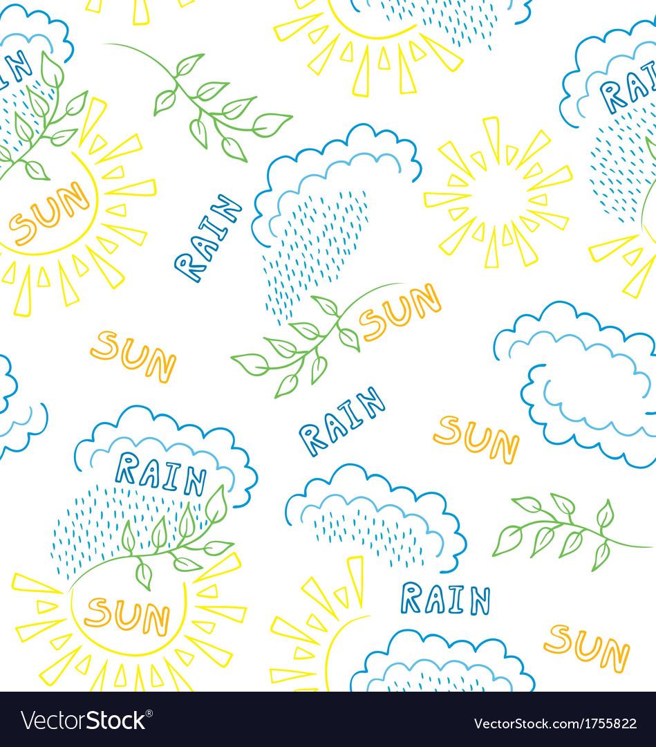 Sun rain pattern vector | Price: 1 Credit (USD $1)
