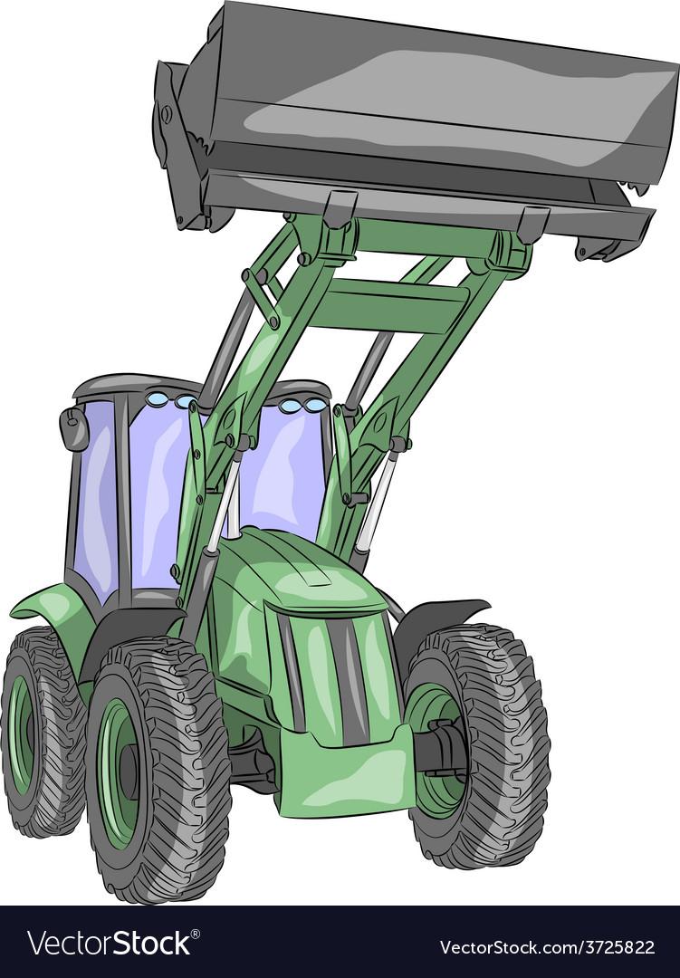 Tractor b vector | Price: 1 Credit (USD $1)