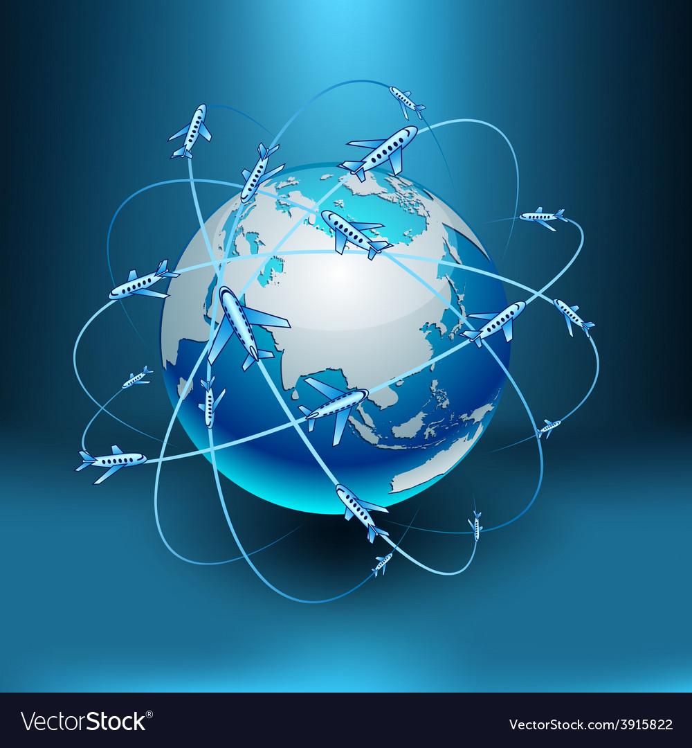 Transportation earth - eurasia vector | Price: 1 Credit (USD $1)