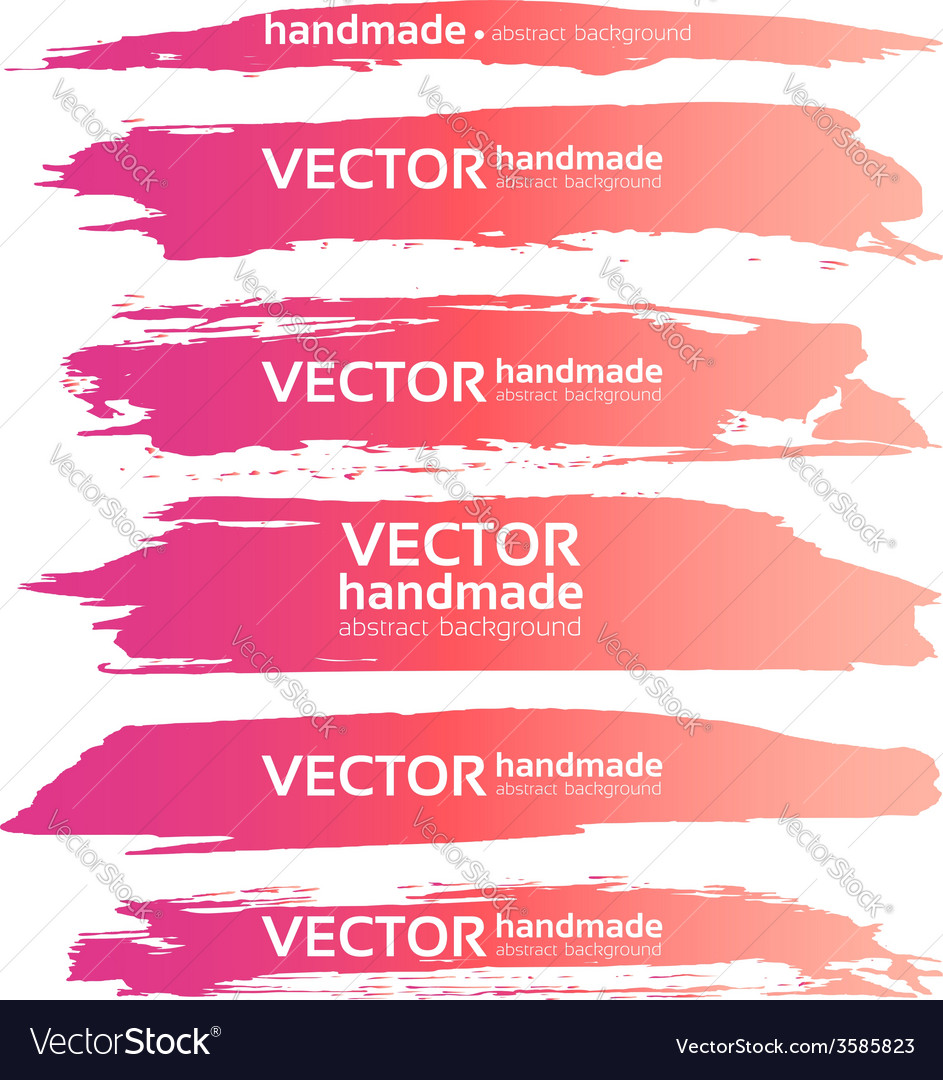 Abstract realistic smears pink gouache paint set vector | Price: 1 Credit (USD $1)
