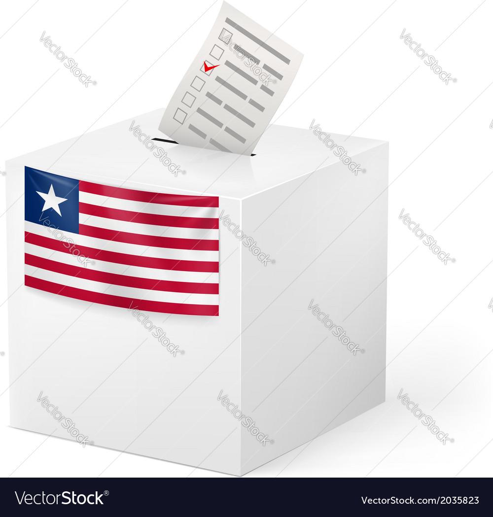 Ballot box with voting paper liberia vector   Price: 1 Credit (USD $1)
