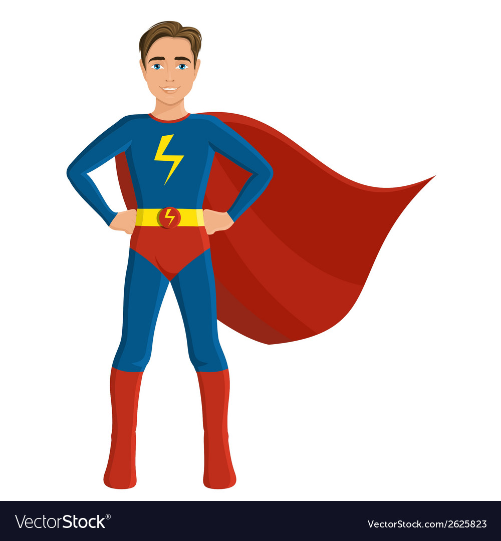 Boy in superhero costume vector | Price: 1 Credit (USD $1)