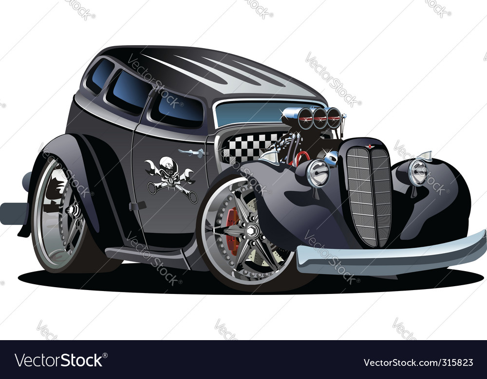 Cartoon hotrod vector | Price: 5 Credit (USD $5)