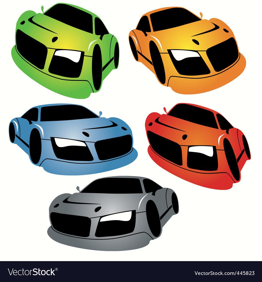 Cartoon style racing car vector | Price: 1 Credit (USD $1)