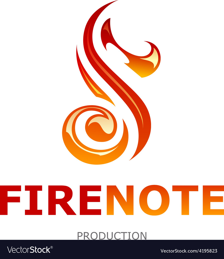 Fire note logo vector | Price: 1 Credit (USD $1)