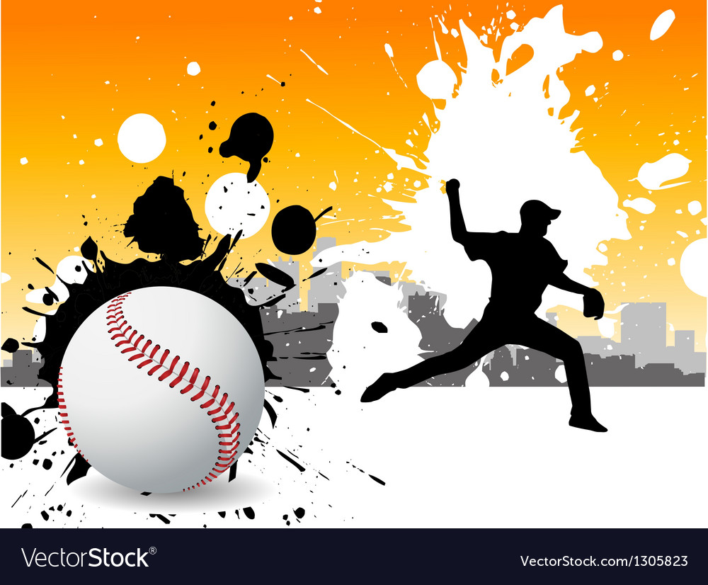 Graffiti baseball vector | Price: 1 Credit (USD $1)