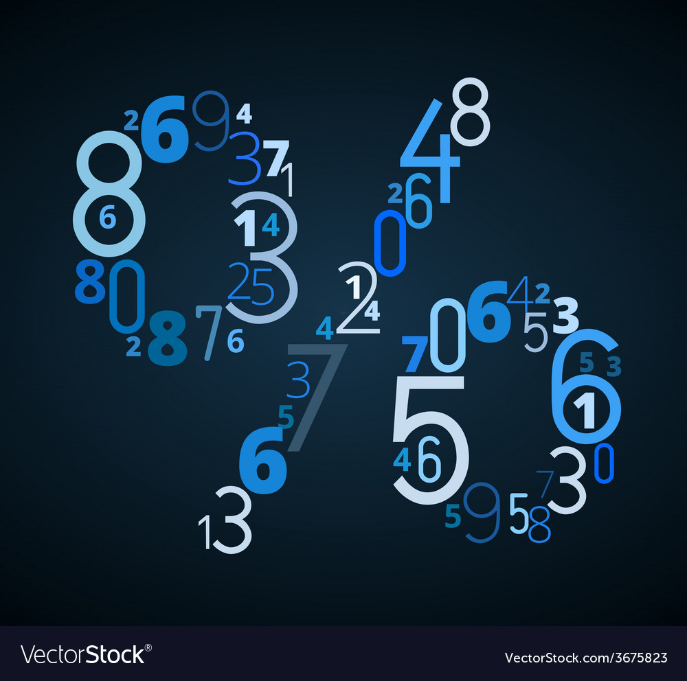 Pecent sign font from numbers vector | Price: 1 Credit (USD $1)