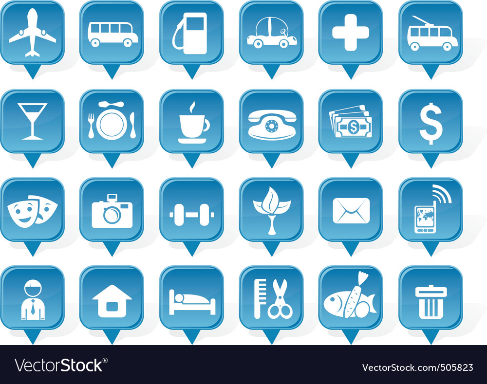 Place icon vector | Price: 1 Credit (USD $1)