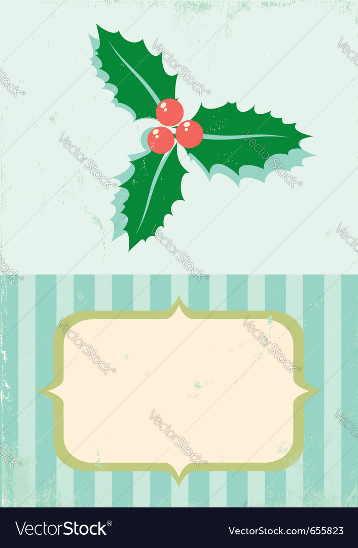 Retro of christmas plant vector | Price: 1 Credit (USD $1)