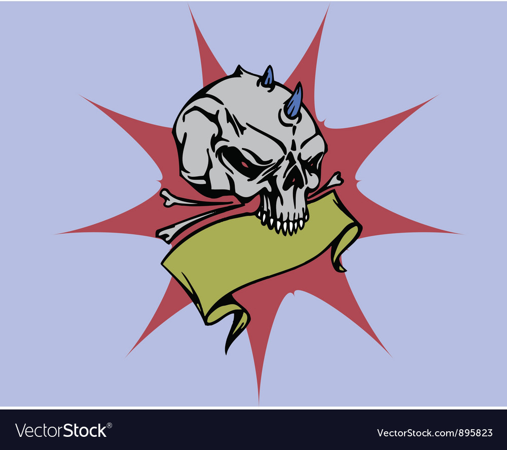 Spiked skull vector | Price: 1 Credit (USD $1)
