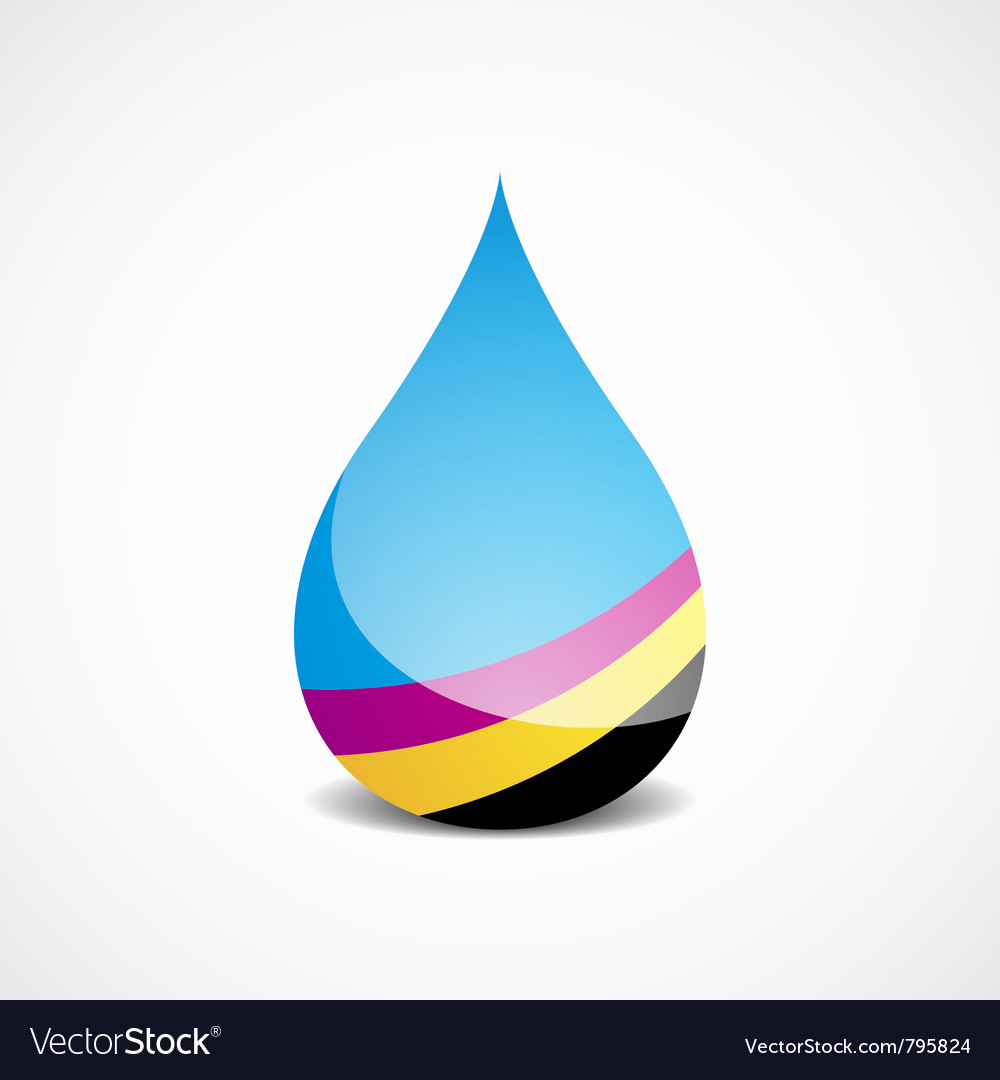 Cmyk drop vector | Price: 1 Credit (USD $1)