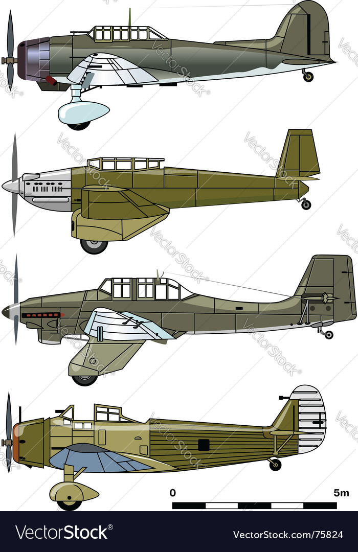 Dive bombers 1930s vector | Price: 3 Credit (USD $3)
