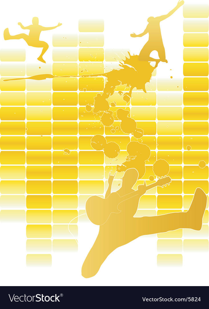 Music party poster vector | Price: 1 Credit (USD $1)