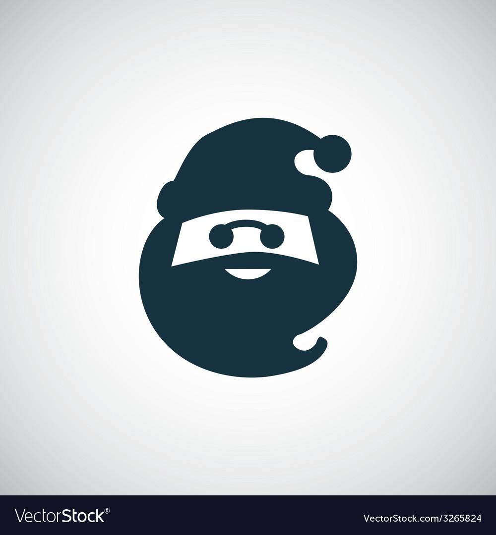 Santa claus icon vector | Price: 1 Credit (USD $1)