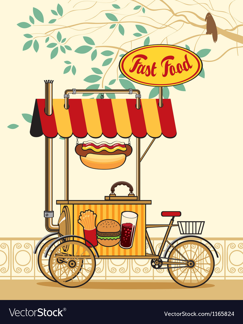 Trolley wheel for fast food vector | Price: 1 Credit (USD $1)