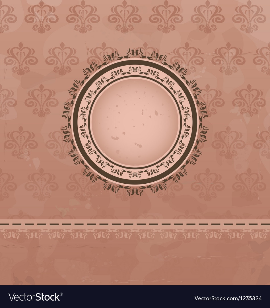 Vintage background with floral medallion vector | Price: 1 Credit (USD $1)