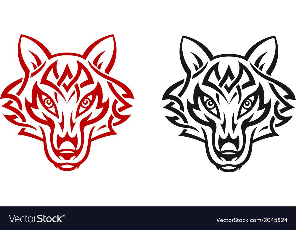 Wild wolf vector | Price: 1 Credit (USD $1)