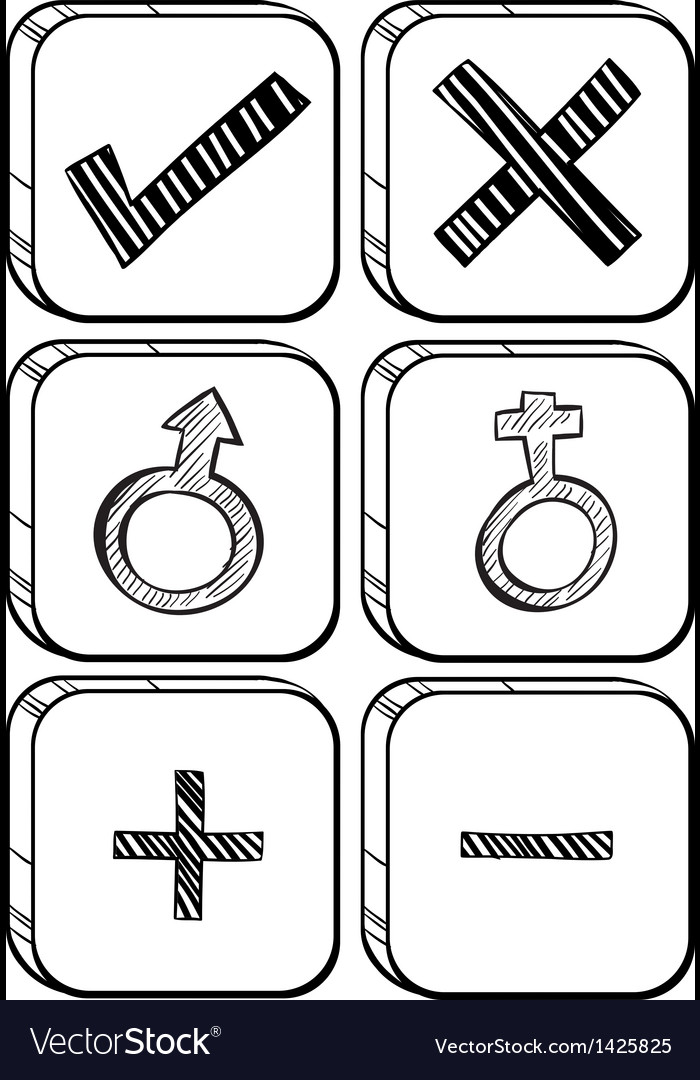 Doodle design of different buttons vector | Price: 1 Credit (USD $1)