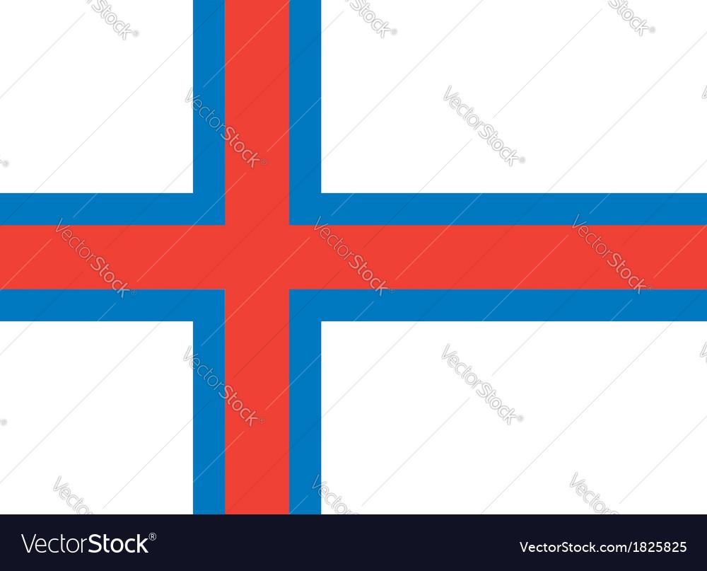 Faroe islands flag vector | Price: 1 Credit (USD $1)