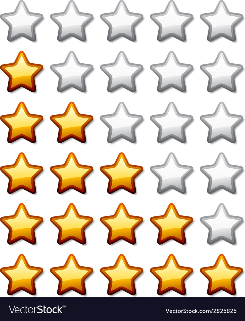 Golden shiny rating stars vector | Price: 1 Credit (USD $1)