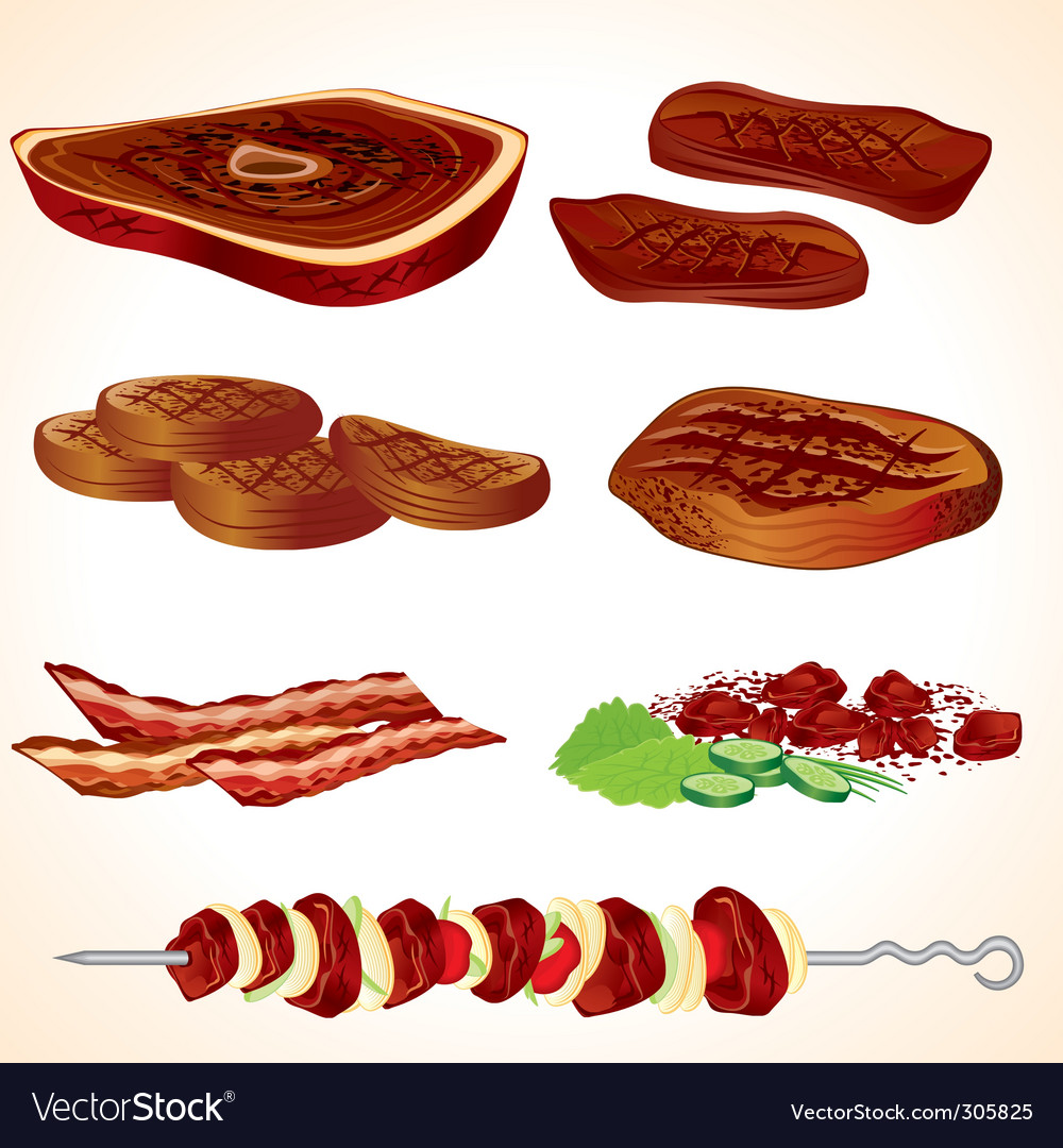 Grilled meat vector | Price: 3 Credit (USD $3)