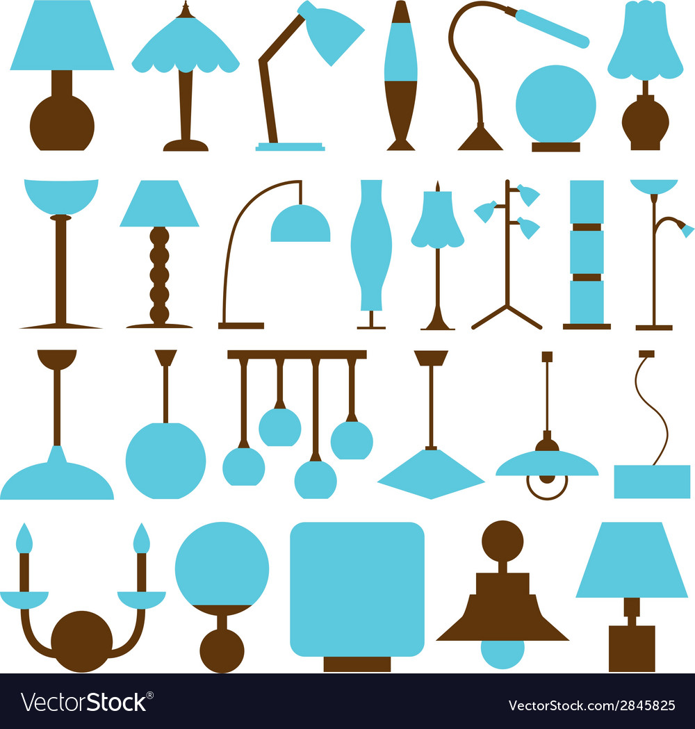 Lamp icons vector | Price: 1 Credit (USD $1)