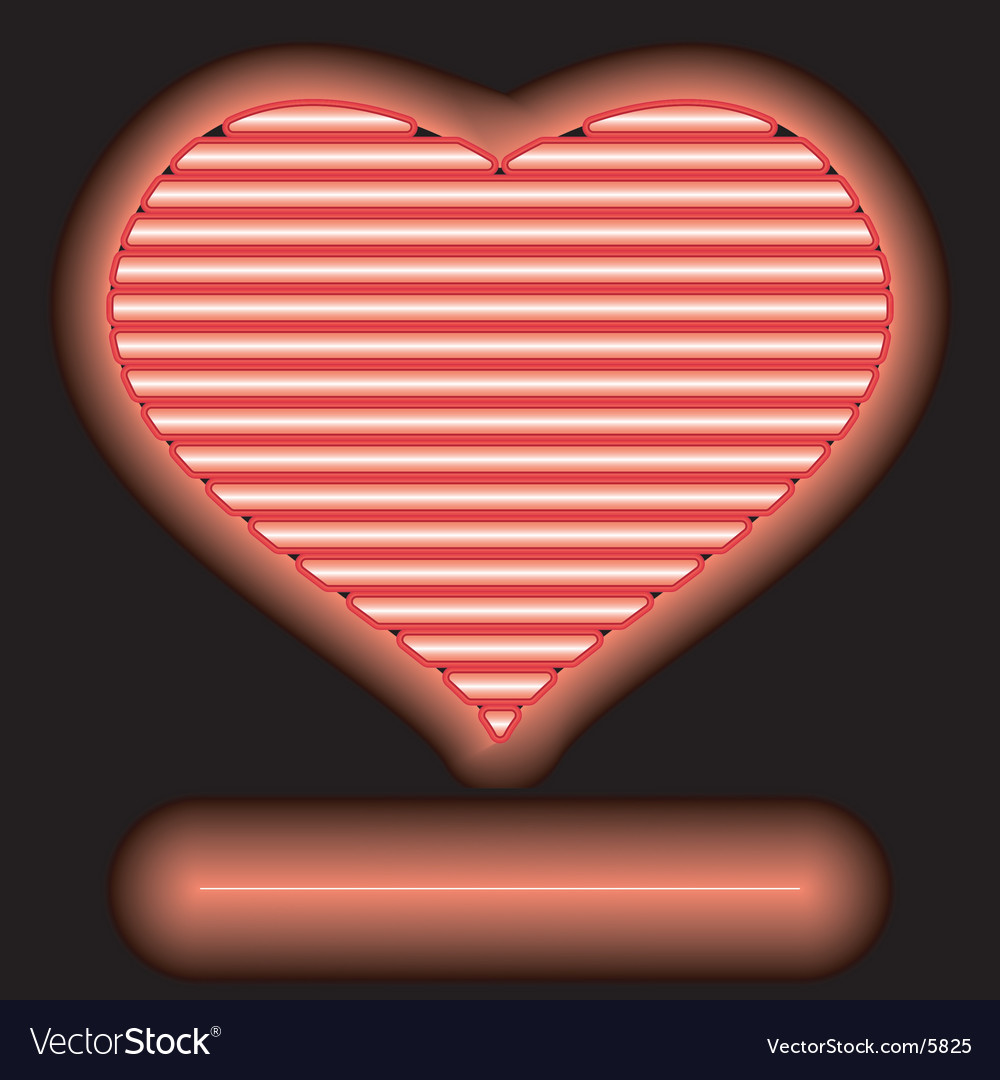 Neon love vector | Price: 1 Credit (USD $1)