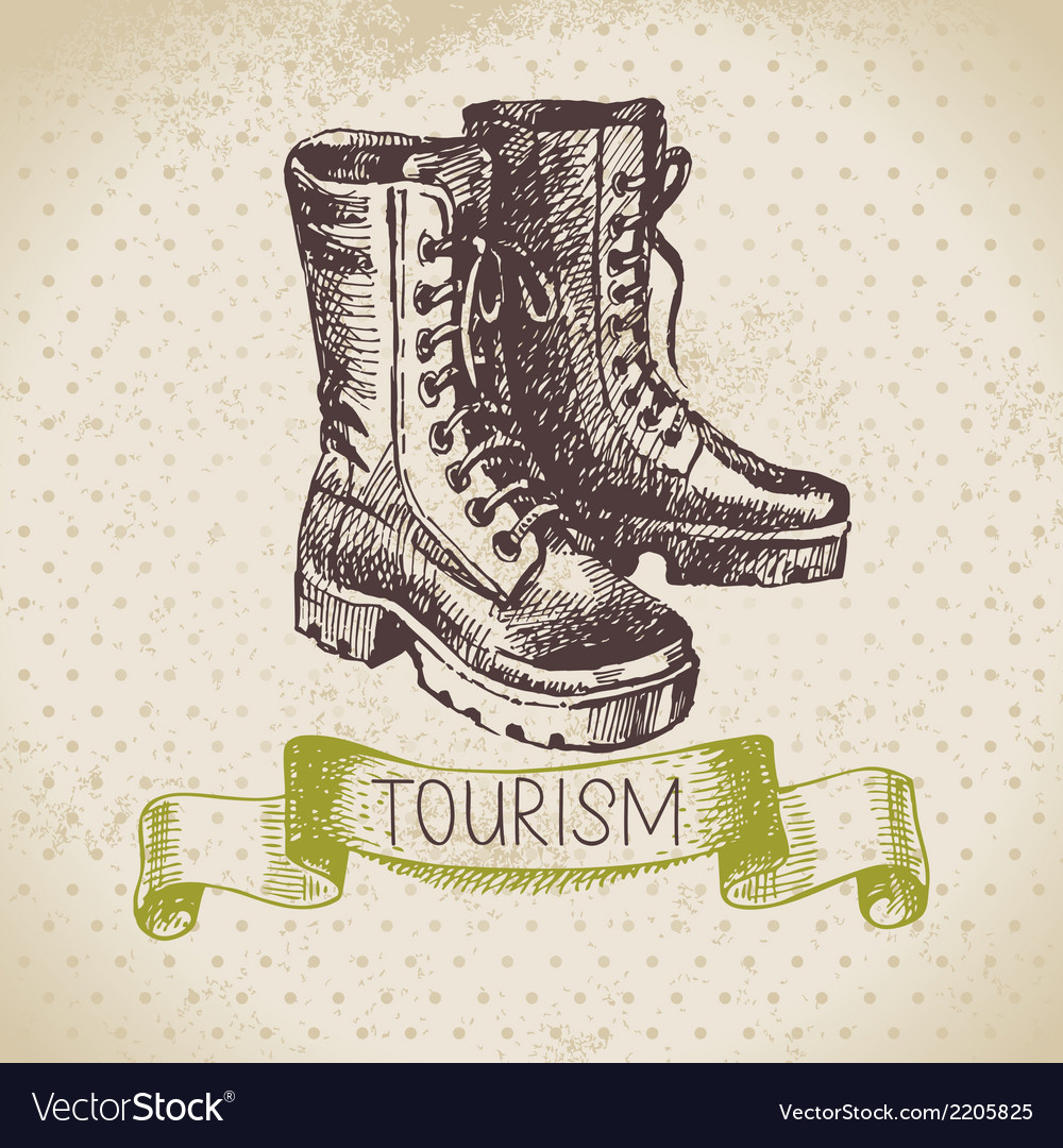Vintage sketch tourism background vector | Price: 1 Credit (USD $1)