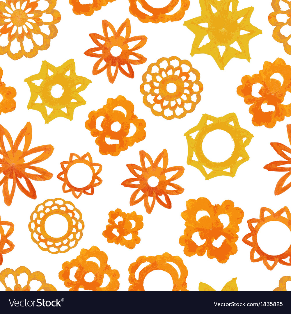Watercolor abstract flower seamless pattern vector   Price: 1 Credit (USD $1)