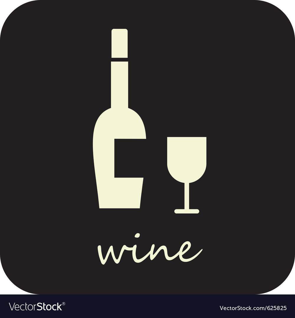 Wine and wine glass vector | Price: 1 Credit (USD $1)