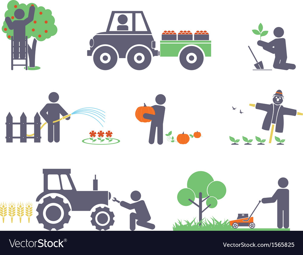Work in the garden vector | Price: 1 Credit (USD $1)